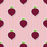 Beet pattern. Seamless texture with beetroot Royalty Free Stock Photography