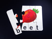 Beet in puzzle Stock Image