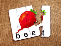 Beet in puzzle Stock Photos
