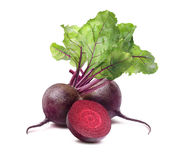 Beet root square isolated on white background Royalty Free Stock Photography