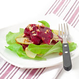 Beet salad with apples Royalty Free Stock Images