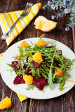 Beet salad with arugula and orange Stock Photography