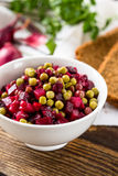 Beet salad in bowl Royalty Free Stock Photos