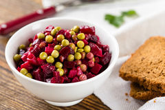 Beet salad in bowl Stock Photo