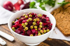 Beet salad in bowl Stock Image