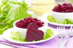 Beet salad in a bowl Stock Images