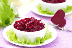 Beet salad in a bowl Stock Photos