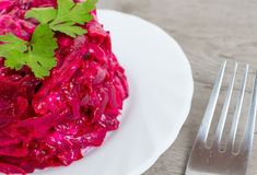 Beet salad close-up Stock Image