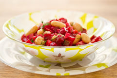 Beet salad with beans Royalty Free Stock Image