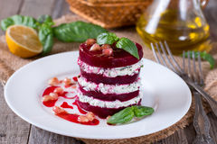 Beet salad and feta cheese Stock Images