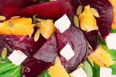 Beet salad with feta cheese and orange. Royalty Free Stock Image