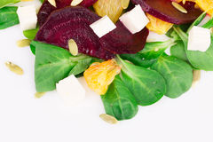 Beet salad with feta cheese and orange. Royalty Free Stock Photography