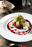 Beet Salad with Goat Cheese Stock Photo