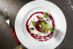 Beet Salad with Goat Cheese Royalty Free Stock Image