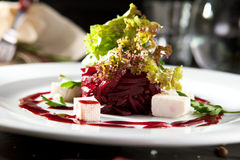 Beet Salad with Goat Cheese Royalty Free Stock Images