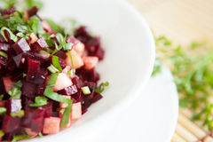Beet salad with herbs, vitaminic Royalty Free Stock Image