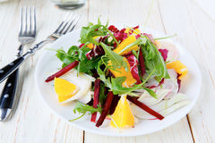 Beet salad with orange and fennel Stock Photography