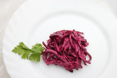 Beet salad with parsley Stock Images