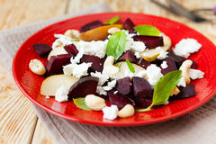 Beet salad with pears and curd Royalty Free Stock Photo