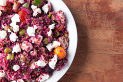 Beet salad with quinoa and chicken Stock Images