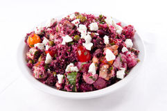 Beet salad with quinoa and chicken Royalty Free Stock Image