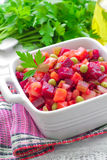 Beet salad. Russian cuisine. Royalty Free Stock Image