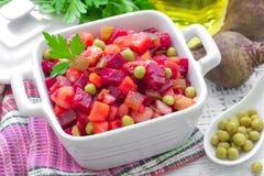 Beet salad. Russian cuisine. Stock Photo