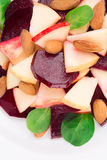 Beet salad with spinach and minced apple. Stock Photo