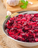 Beet salad Vinaigrette Royalty Free Stock Photos
