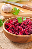 Beet salad Vinaigrette Stock Photos