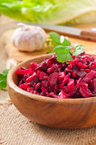 Beet salad Vinaigrette Royalty Free Stock Image