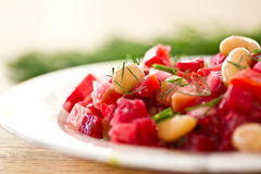 Beet Salad With Beans Royalty Free Stock Photography