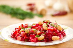 Beet Salad With Beans Royalty Free Stock Photos