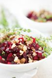 Beet Salad With Crushed Walnuts Stock Photo