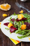 Beet Salad With Slices Of Orange Stock Images