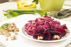Free Beet Salad With Walnut Royalty Free Stock Photos - 24188888