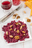 Beet salad with yogurt Royalty Free Stock Photo