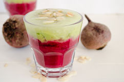 Beet smoothie Stock Image