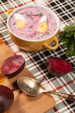 Beet soup cold. Stock Photography