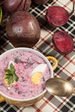 Beet soup cold. Royalty Free Stock Photo
