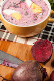 Beet soup cold. Royalty Free Stock Images