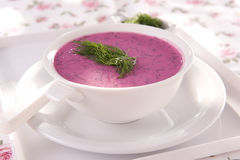 Beet soup Stock Image