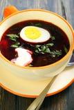 Beet soup. Stock Photos