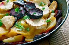 Beet and Turnip Gratin Royalty Free Stock Image