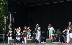 Beet van Seattle Sonic Funk Orchestra Stock Foto