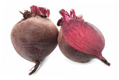 Beet vegetable. Beet purple vegetable with shadow on white background Royalty Free Stock Photography