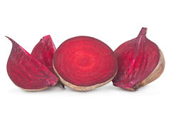 Beet vegetable part on white Stock Images