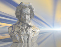 Beethoven. Digital visualization of a beethoven statue Royalty Free Stock Images