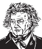 Beethoven stock illustratie