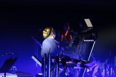 Beethoven 3D bonde primeiramente ao Polônia que o concerto com efeitos 3D executou pela orquestra e pelos solistas de Filharmonia imagem de stock royalty free
